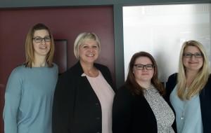 Unsere Sekretärinnen Michaela Scharf, Olga Reisch, Kristina Weber und Simone Baier (v.l.n.r.)