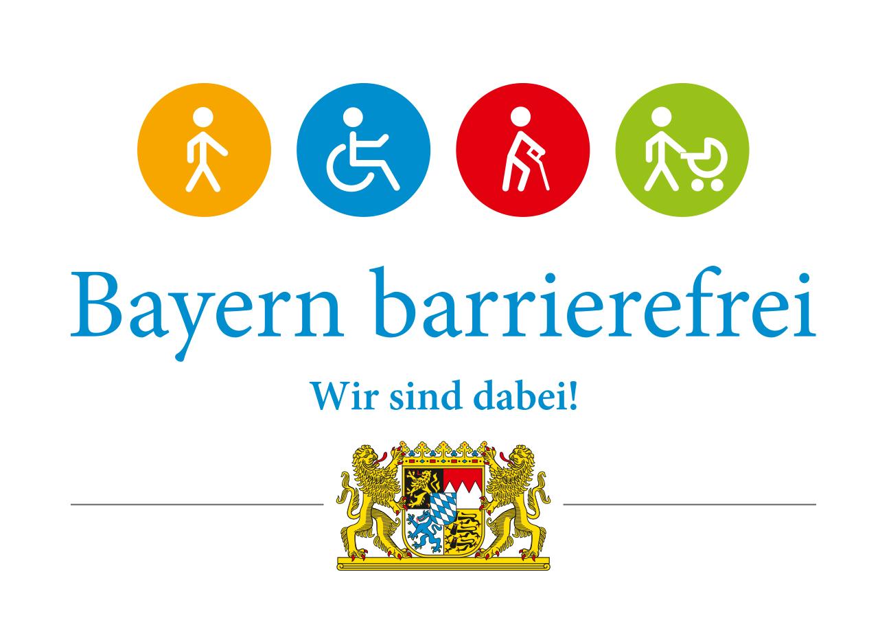RZ Bayern barrierefrei Wir sind dabei RGB